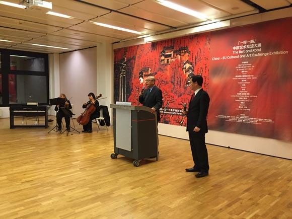 【一带一路文化】纪念李可染诞辰110周年画展在维也纳举行